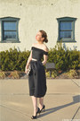 Black-henri-bendel-purse-black-peep-toe-calvin-klein-heels