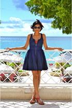 navy Armani Exchange dress - ruby red Jessica Simpson swimwear