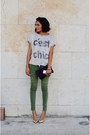 Olive-green-zara-pants