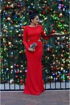 red windsor dress