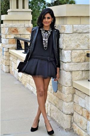 black Zara sweater - black Blisstulle skirt