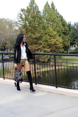 white Dezzal shirt - black Zara blazer