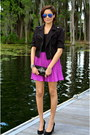 Black-dex-clothing-jacket-magenta-ted-baker-skirt