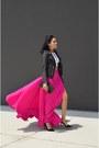 Hot-pink-indiaboulevard-skirt