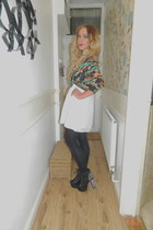 Jeffrey Campbell boots - worn as skirt bank dress - kimono asos cape