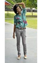 blouse - Mendrez shoes - Penshoppe pants - sm department store belt