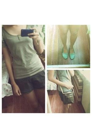 Penshoppe blouse - Kimbel bag - Penshoppe shorts