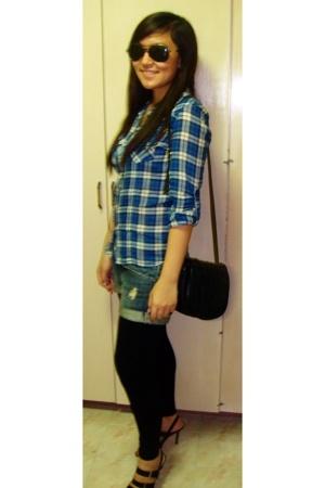 Mango accessories - Topshop shirt - from my grandma accessories - Zara shorts -