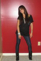 urbanvibe shirt - Michael Kors accessories - vintage jeans - Qupid boots
