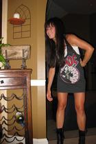 rockware dress - Kors by Michael Kors boots - Old Navy shirt
