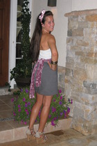 abercrombie and fitch top - American Apparel skirt - Steve Madden shoes - Mossim