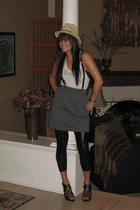 forever 21 shirt - American Apparel skirt - Hot Topic accessories - Target leggi