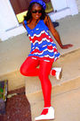 Blue-lux-dress-red-walmart-stockings-white-dollhouse-shoes