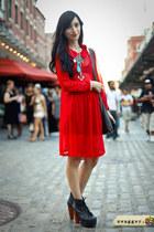 litas Jeffrey Campbell heels - chiffon Deena & Ozzy dress
