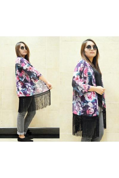 floral kimono Sheinside cape