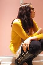 JCrew cardigan - Forever 21 shirt - BDG leggings - michael antonio boots - Forev