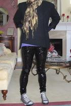 vintage blazer - Urban Outfitters sweater - JCrew shirt - Pashmina scarf - Expre