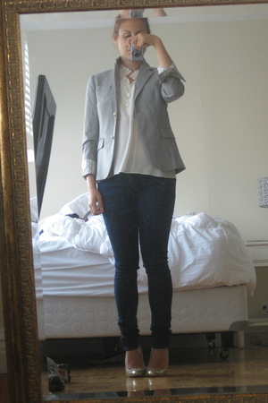 JCrew blouse - JCrew jacket - Urban Outfitters jeans - lovely people shoes
