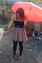 H&M top - ThriftedVintage from Sobeys skirt - new look shoes - vintage purse