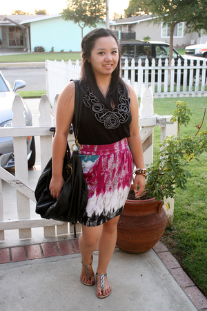 Forever 21 top - Target skirt - The Philippines bracelet - Urban Outfitters purs