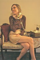 Gold-alyssa-nicole-skirt-brown-alyssa-nicole-blouse