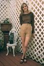 Brown-alyssa-nicole-blouse-beige-alyssa-nicole-shorts-green-alyssa-nicole-ac