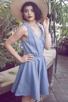 Denim Vneck Dress