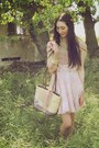 Tan-alyssa-nicole-bag-light-pink-alyssa-nicole-dress