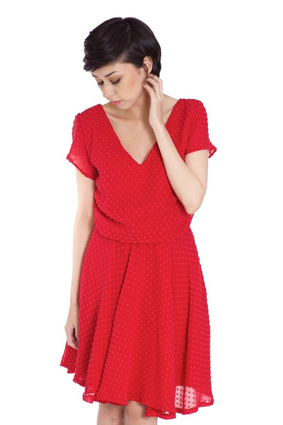 red polkadot Alyssa Nicole dress