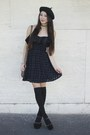 Black-alyssa-nicole-dress-black-beret-hat