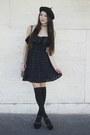 Black-alyssa-nicole-dress-black-beret-hat