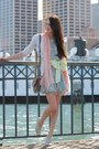 Sky-blue-alyssa-nicole-dress-off-white-lace-up-shoes-light-pink-gap-scarf