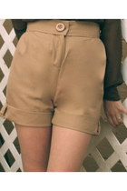 Camel Khaki Alyssa Nicole Shorts Brown Mary Anne Alyssa Nicole Blouses