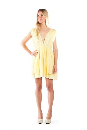 light yellow Alyssa Nicole dress