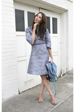 blue Alyssa Nicole dress - blue vintage calvin klein jacket