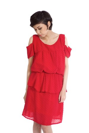 ruby red Alyssa Nicole dress