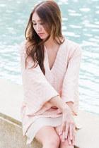 light pink kimono Alyssa Nicole dress