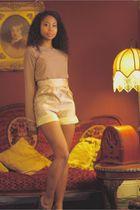 gold brocade Alyssa Nicole shorts - beige Alyssa Nicole blouse