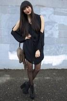 black freda Jeffrey Campbell wedges - black Alyssa Nicole dress