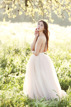 light pink tulle Alyssa Nicole dress