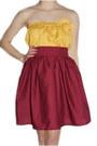 Dark-brown-brown-wool-thrifted-vintage-hat-mustard-tube-top-bird-by-alyssa-nic