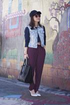 Pour La Victoire bag - H&M top - H&M pants - Aldo heels - Forever 21 vest