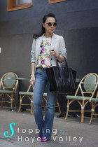 citizens of humanity jeans - Forever 21 blazer - Pour La Victoire bag