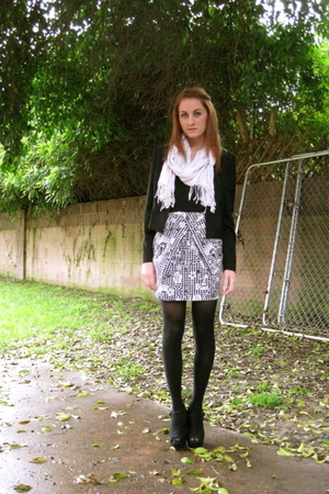 black Forever21 jacket - black unkown shoes - black Zara dress