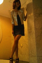 silver ICONIA blazer - gold Charles & Keith shoes