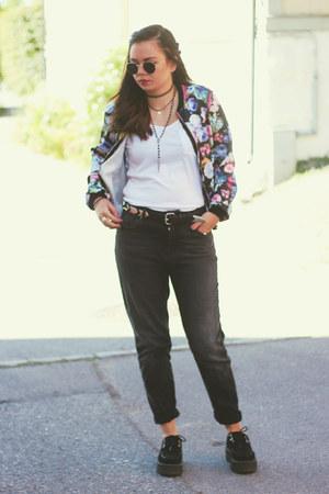 mom Bik Bok jeans - floral bomber Primark jacket