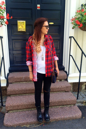 plaid second hand shirt