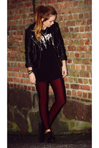 faux leather H&M Jacket jacket - suede ebay Creepers flats