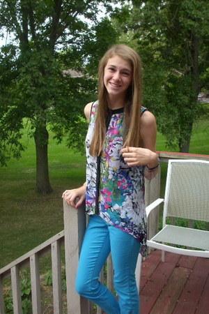 Nicole blouse - sky blue LEI jeans