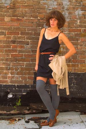 vintage dress - thrifted shoes - vintage jacket